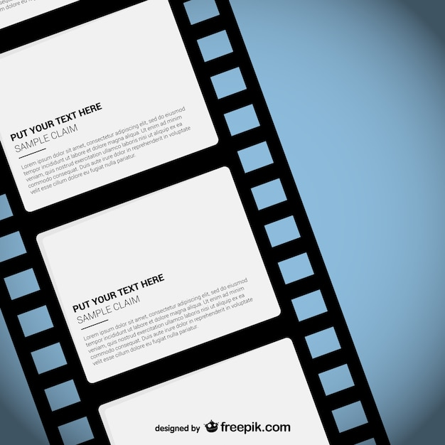 Film strip template Gratis Vector
