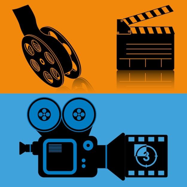 Filmapparatuur film film banner Premium Vector