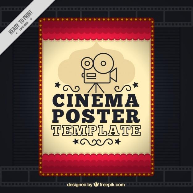 Filmposter in vintage stijl Gratis Vector