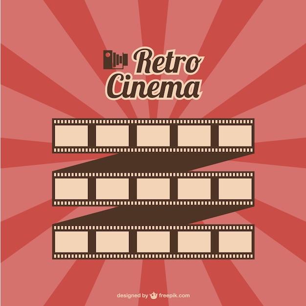 Filmrol retro cinema vector Gratis Vector