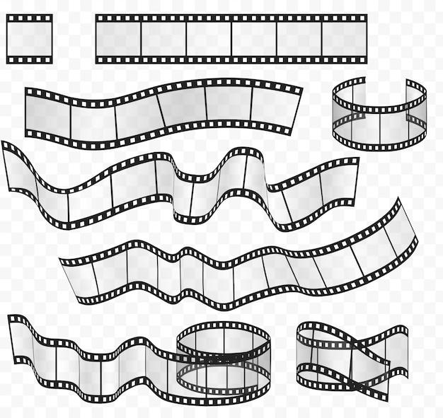 Filmstroken rollen ingesteld Premium Vector