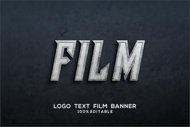 Filmteksteffect Premium Vector