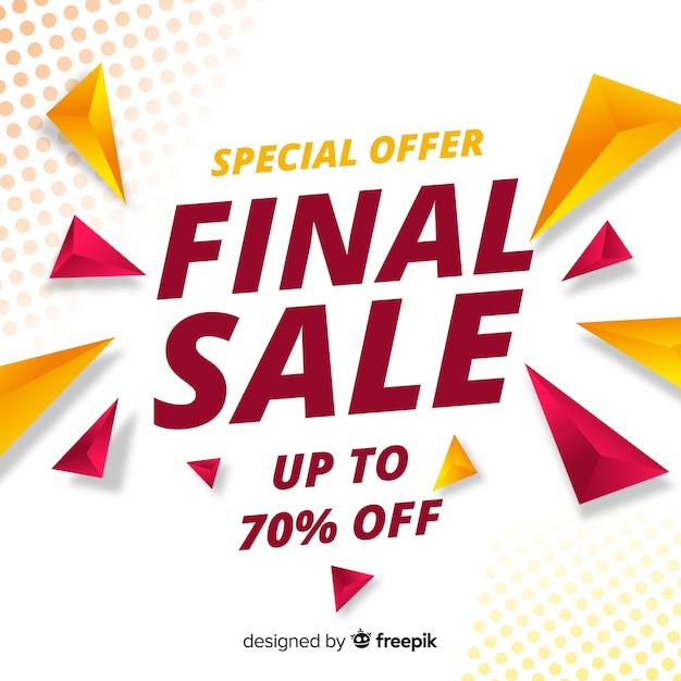 Final sale discount achtergrond Gratis Vector