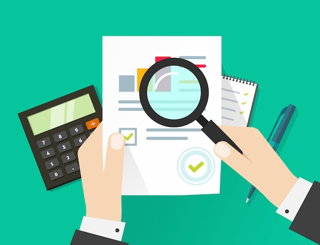 Financiële audit belastingproces Premium Vector