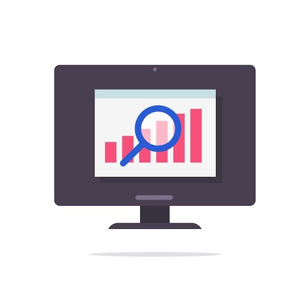 Financiële audit verkoopstatistieken gegevens webonderzoek vector concept Premium Vector