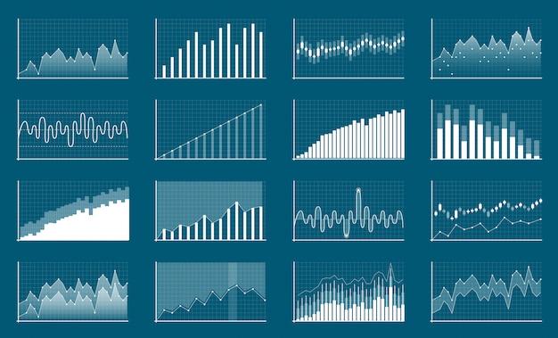 Financiële gegevens bedrijfsgegevens. financiën diagram. Premium Vector