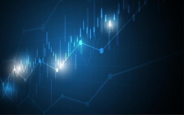 Financiële grafiek kaars stok grafiek bedrijf Premium Vector