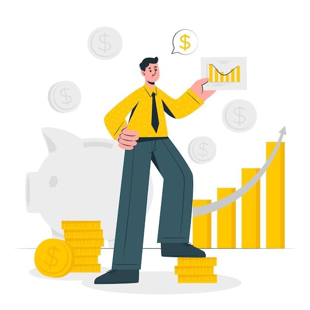 Financiën concept illustratie Gratis Vector