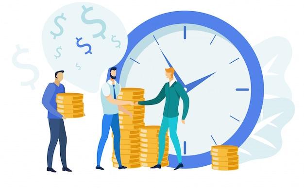 Financiën management, bankieren illustratie Premium Vector