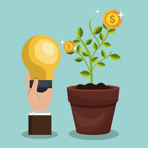 Financiering en investeringsontwerp Premium Vector