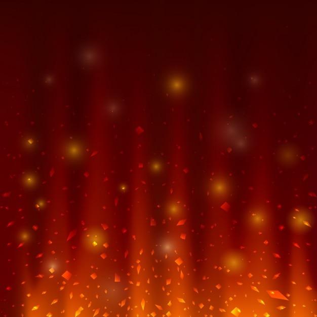 Fire abstracte achtergrond ontwerp Gratis Vector