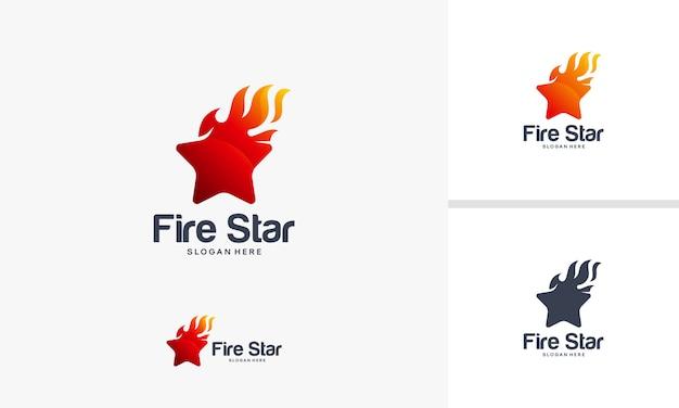 Fire star-symbool vector Premium Vector