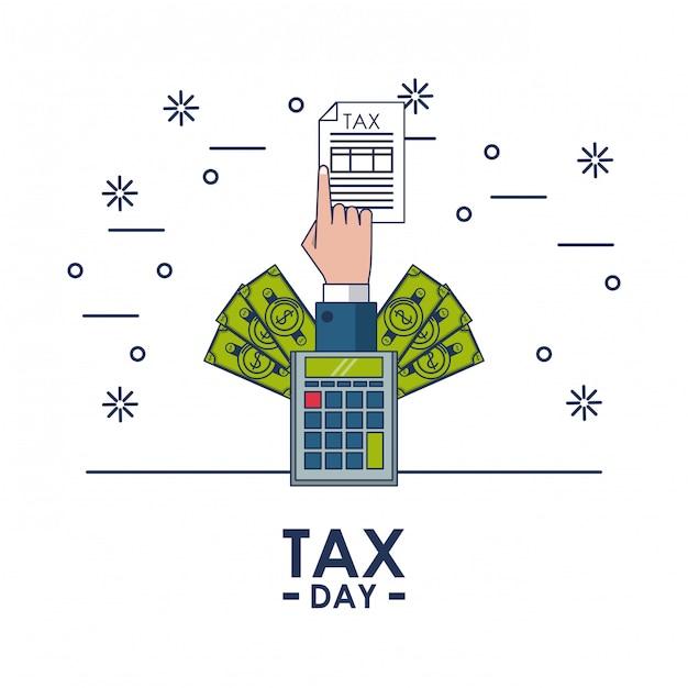 Fiscale dag financieringskaart Premium Vector