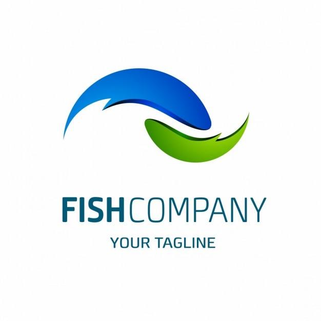 Fish company logo template Gratis Vector
