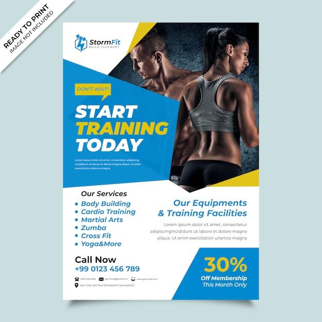 Fitness flyer Premium Vector