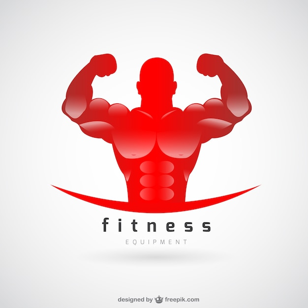 Fitnessclub vector logo Gratis Vector