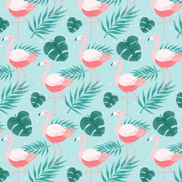 Flamingo patroon concept Gratis Vector