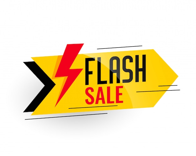 Flash-verkoop en kortingsbanner Gratis Vector