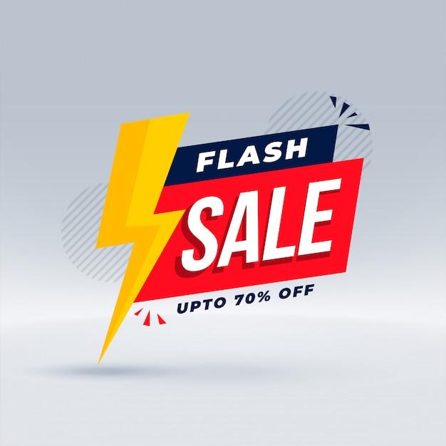 Flash verkoop moderne banner promotionele sjabloon Gratis Vector