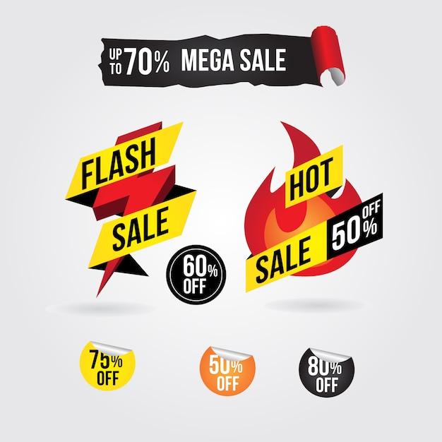 Flash-verkooppromotiebanner Premium Vector