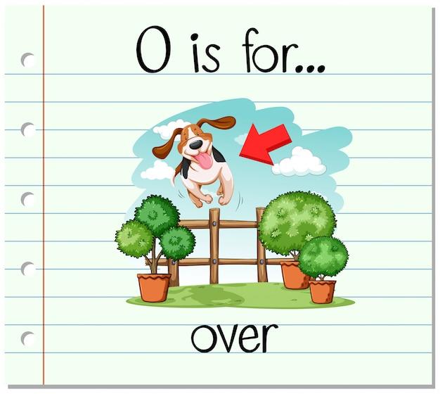 Flashcard alfabet o is voor meer dan Gratis Vector