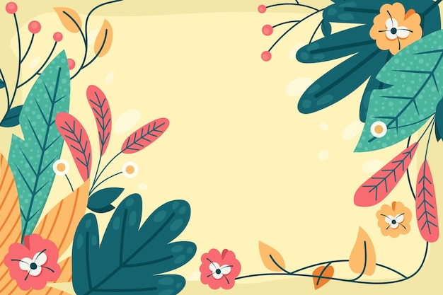 Flat abstract floral achtergrond Gratis Vector