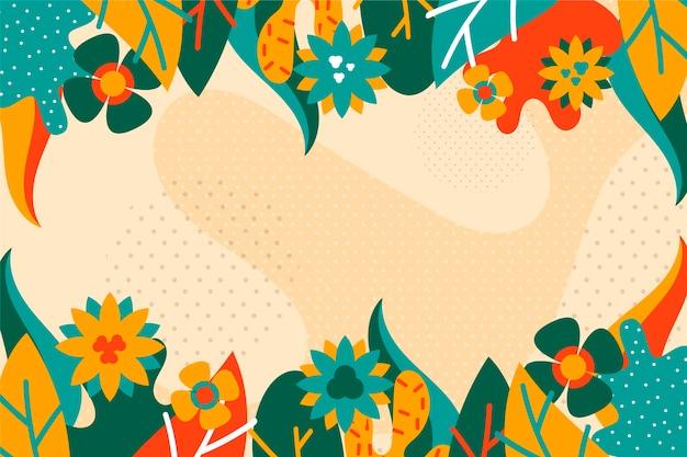 Flat abstract floral achtergrondconcept Gratis Vector