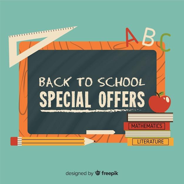 Flat back to school sales Gratis Vector