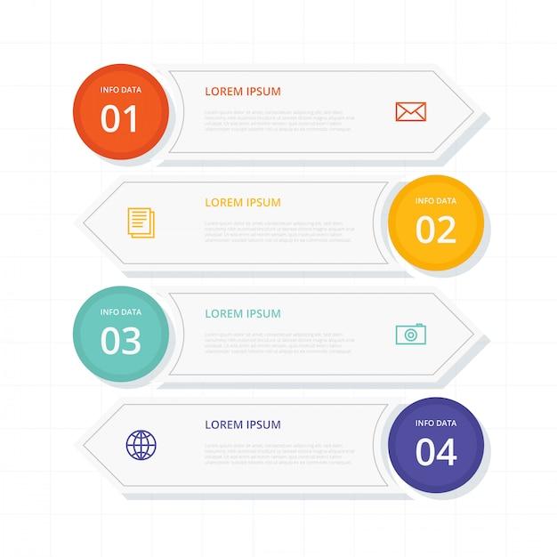 Flat banners infographic Premium Vector