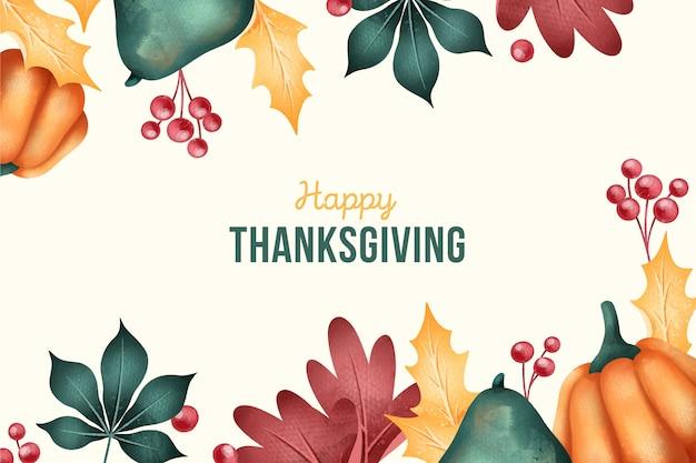Flat-design van thanksgiving achtergrond Gratis Vector