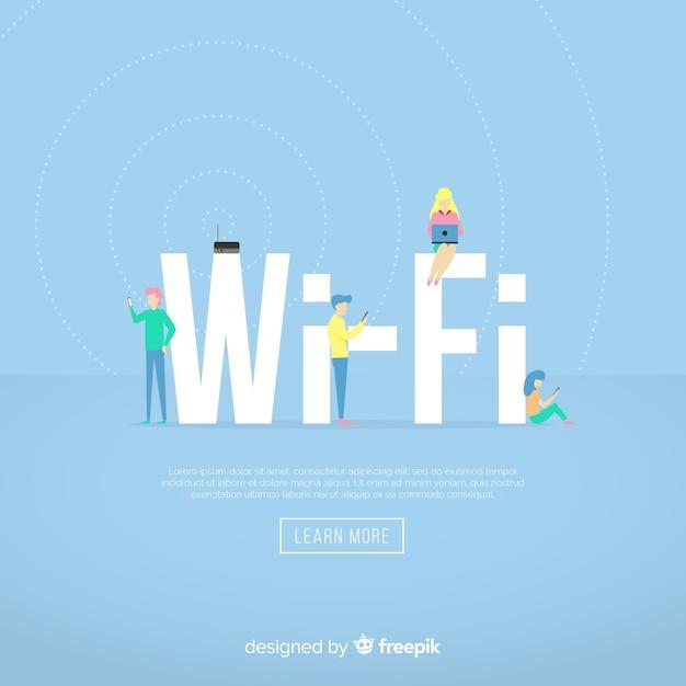 Flat wifi-concept Gratis Vector