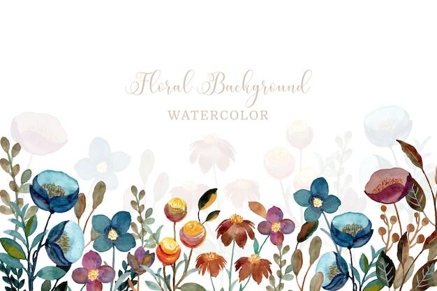 Floral achtergrond met waterverf Premium Vector