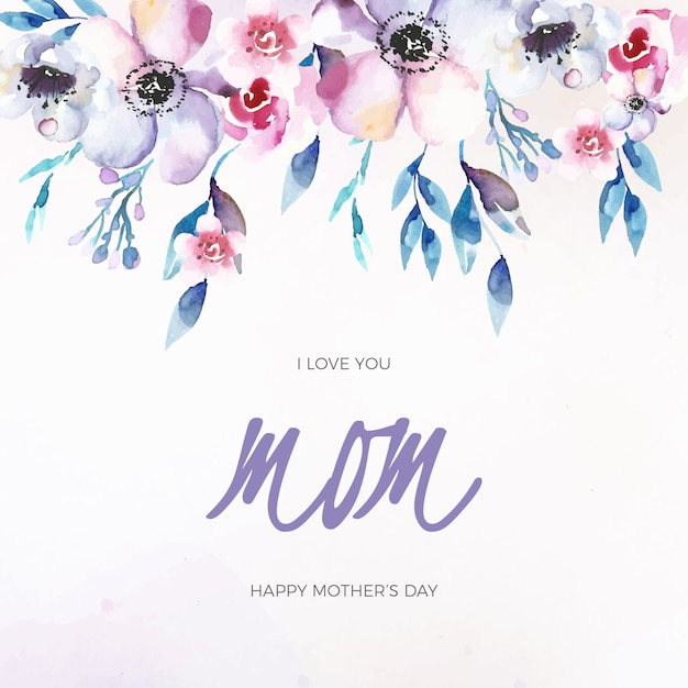 Floral design moederdag viering Gratis Vector