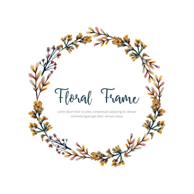 Floral frame achtergrond Gratis Vector