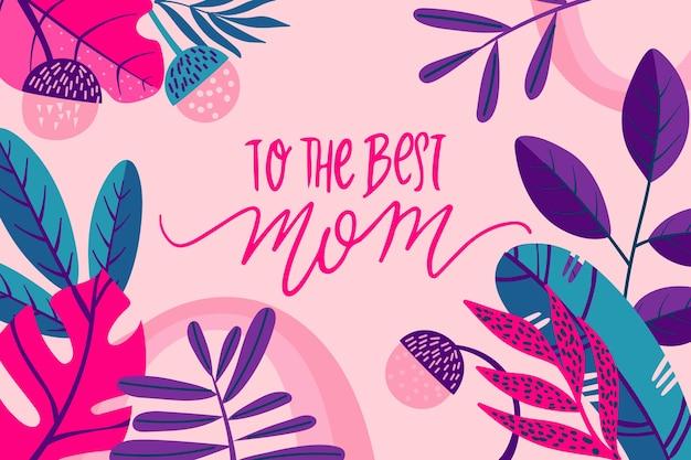 Floral internationale moederdag concept Gratis Vector