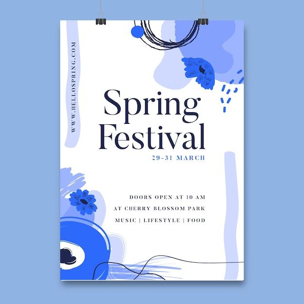 Floral lente festival poster Gratis Vector