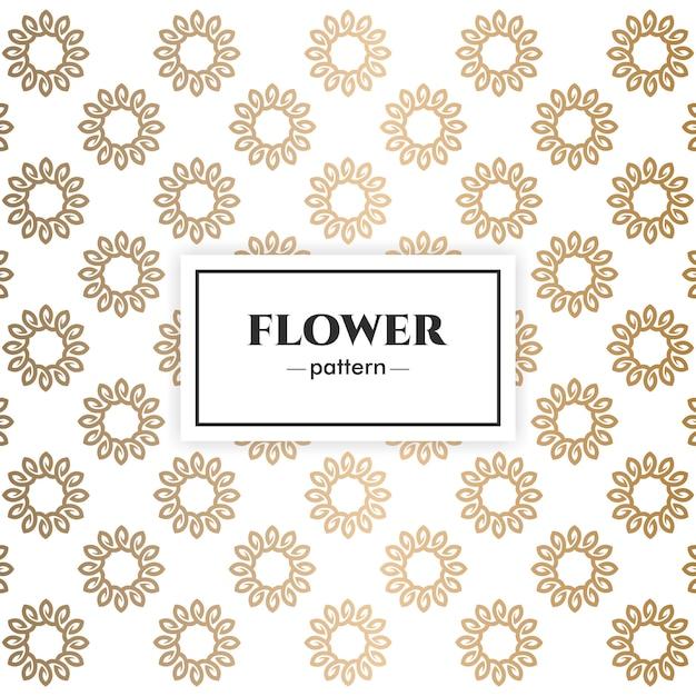 Floral luxe patroon ontwerp Premium Vector