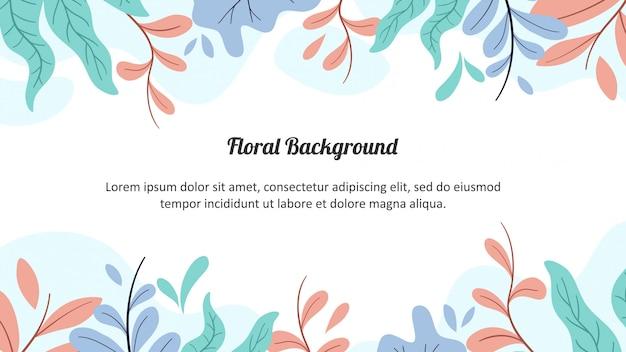 Floral matte kleur achtergrond Premium Vector