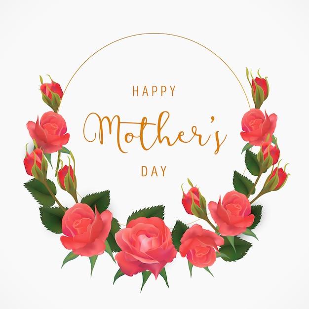 Floral mother's day achtergrond Gratis Vector