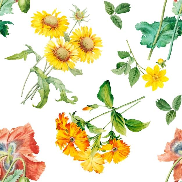 Floral patroon achtergrond Gratis Vector
