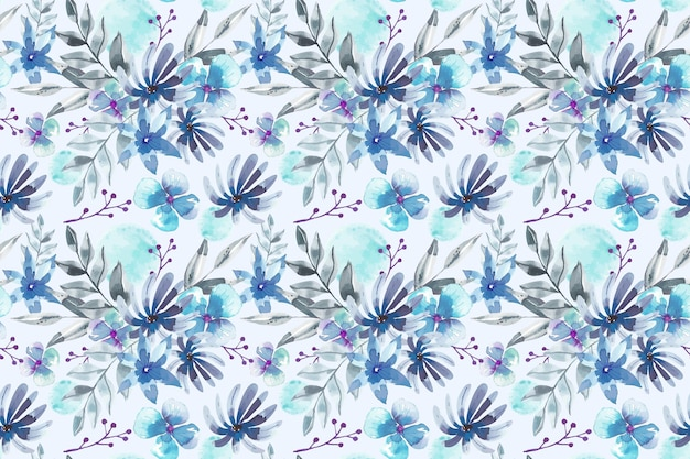 Floral patroon aquarel ontwerp Premium Vector