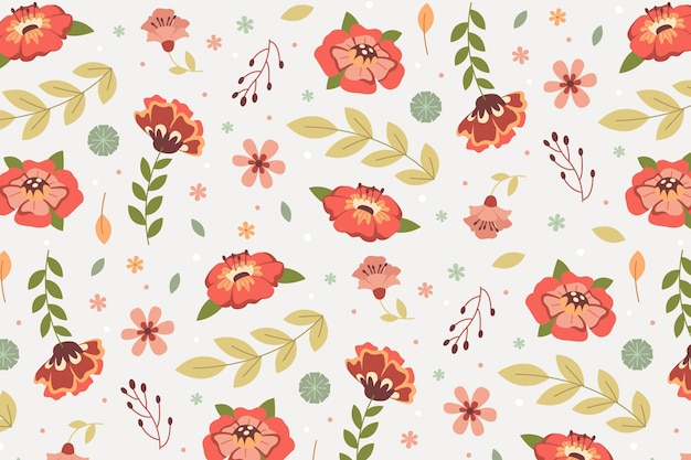 Floral patroon collectie concept Gratis Vector