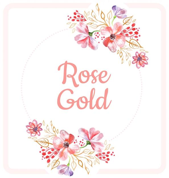 Floral roze achtergrond Premium Vector