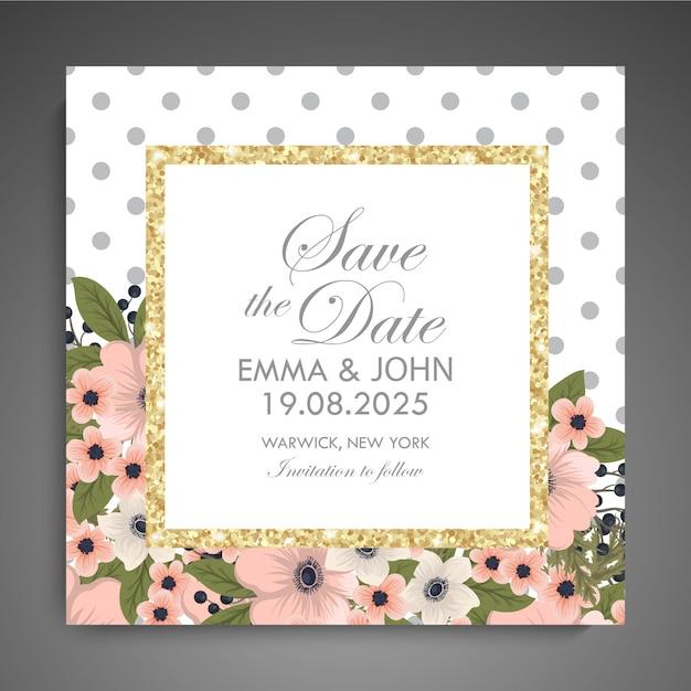 Floral visitekaartje sjabloonontwerp Premium Vector