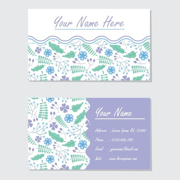 Floral visitekaartje vector Premium Vector