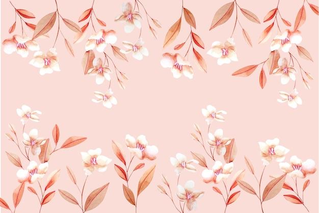 Florale achtergrond met zachte kleuren Gratis Vector