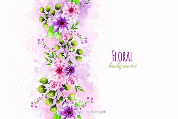 Florale achtergrond Gratis Vector