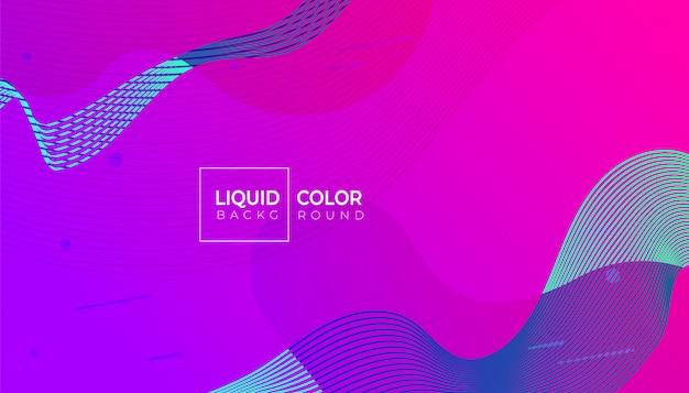 Fluid shapes-banner Premium Vector