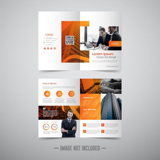 Flyer brochure ontwerpsjabloon Premium Vector
