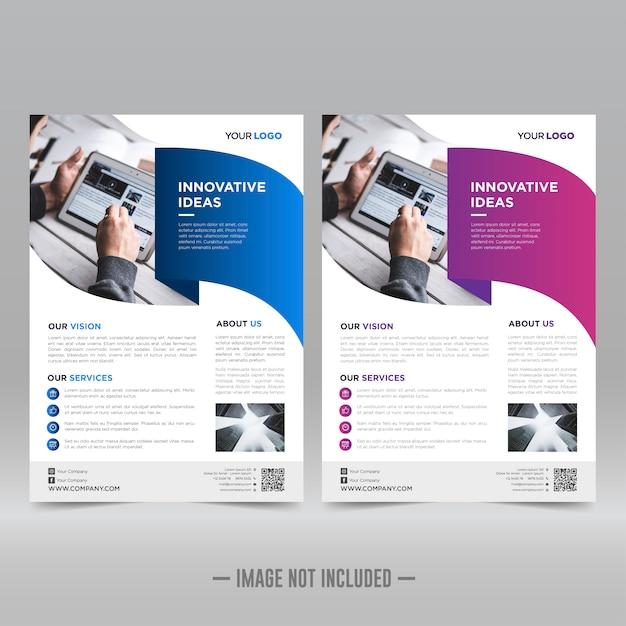 Flyer brochure sjabloon Premium Vector